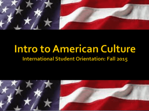 Introduction to American Culture