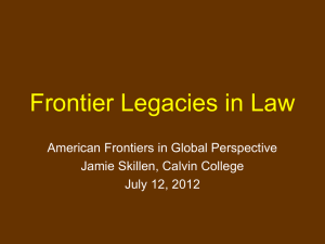 Land Law and Frontiers