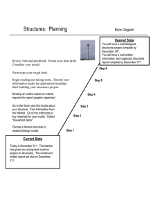 Structures:  Planning Bone Diagram Desired State