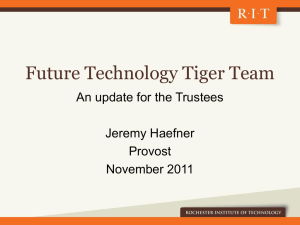 Future Technology Tiger Team