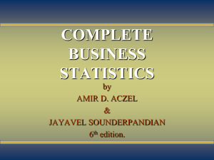 COMPLETE BUSINESS STATISTICS by