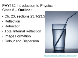 PHY132 Introduction to Physics II Outline: Class 5