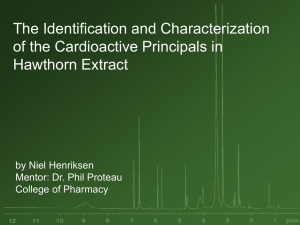 The Identification and Characterization of the Cardioactive Principals in Hawthorn Extract