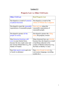 Property Law vs. Other Civil Laws