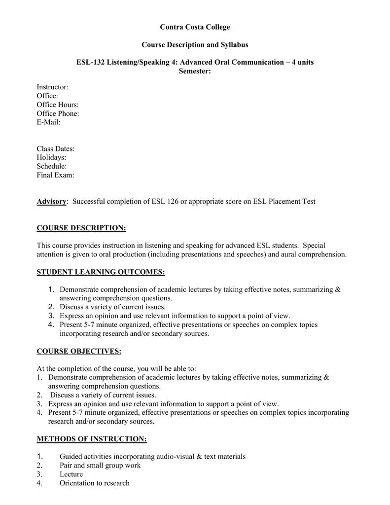 Oral presentation worksheets.
