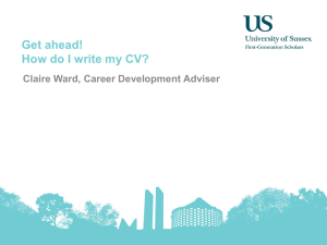 FGS: How do I write my CV? [PPTX 1.91MB]