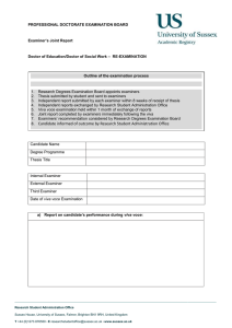 Examiners Joint Report Form for Professional Doctorate Revise and Re-submit [DOCX 62.82KB]
