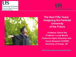 The Next 50 Years: Imagining the University of the Future [PPT 2.25MB]
