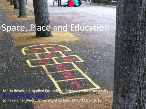 Space, Place and Education [PPTX 10.73MB]