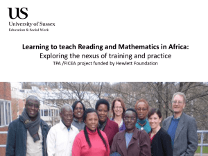 CIE Researchers - Teacher Preparation in Africa [PPT 6.73MB]