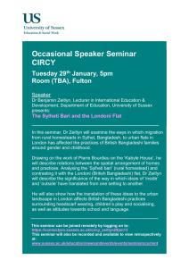 Occasional Speaker Seminar CIRCY  Tuesday 29
