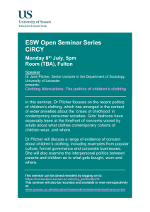 ESW Open Seminar Series CIRCY  Monday 8