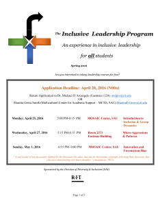 Inclusive Leadership Program