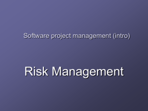 Risk Management Software project management (intro)