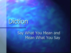 Diction, Syntax, Tone ppt