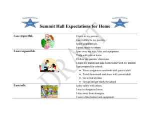 Summit Hall Expectations for Home  respectful. I am responsible.