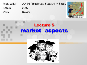 market  aspects Lecture 5 Matakuliah y