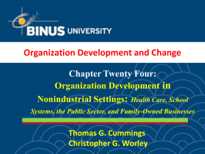 in : Organization Development and Change Chapter Twenty Four: