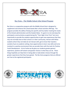 Rec Extra – The Middle School After School Program