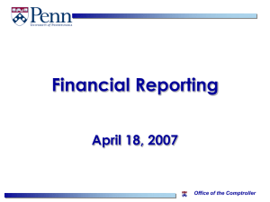 FY08 Closing and Financial Reporting