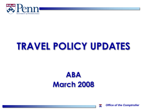 Travel Policy Update