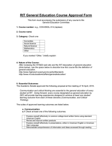 RIT General Education Course Approval Form
