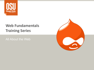 Web Fundamentals Training Series All About the Web