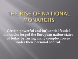 Rise of National Monarchies
