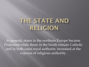 The State and Religion
