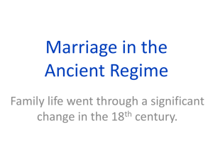 Marriage and Family in the Ancient Regime