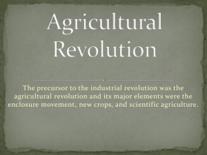 The precursor to the industrial revolution was the