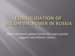 Consolidation of Communist Russia