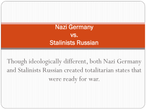 Nazi Germany vs. Stalinist Russia
