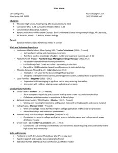 CT Resume Template