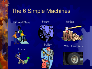 Power Point on Simple Machines