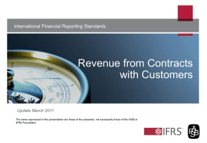 Revenue from Contracts with Customers International Financial Reporting Standards Update March 2011