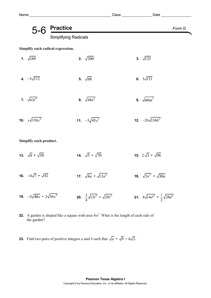 2 5 Practice Literal Equations And Formulas Form G Answer Key