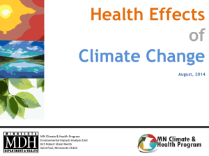 Health Effects of Climate Change Slide Set (PPT: 735KB/15 pages)
