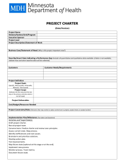 QI Project Charter Template (DOC)