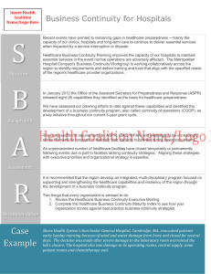 SBAR Hospitals (Word: 56K/1 page)
