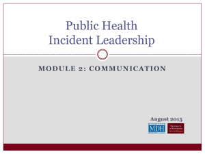 Module 2: Communication (Powerpoint: 16 slides)