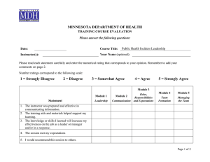 MDH Training Course Evaluation Form (Word)