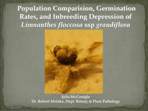 Population Comparision, Germination Rates, and Inbreeding Depression of Limnanthes floccosa Julia McGonigle