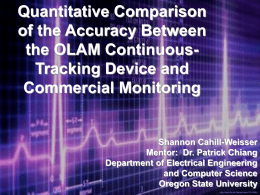 Quantitative Comparison of the Accuracy Between the OLAM Continuous- Tracking Device and
