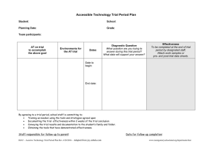 Accessible Technology Trial Period Plan