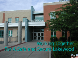 A Safe and Secure Lakewood 2015-2016