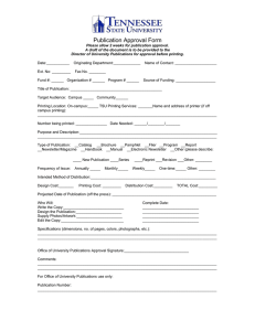 Publication Approval Form