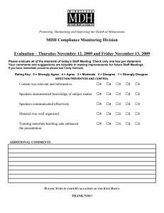 Infection Control Evaluation Form (MSWord: 49KB/1 page)
