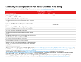 CHIP Review Checklist (DOC)