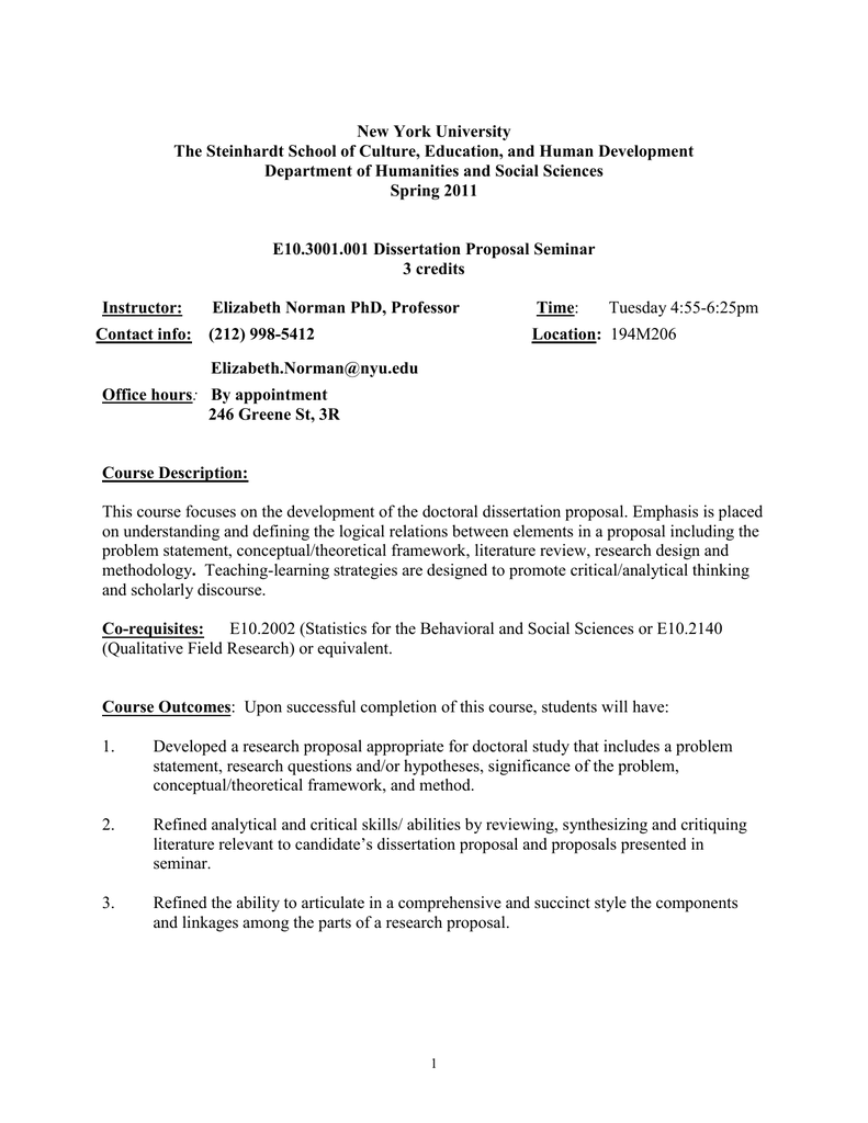 education dissertation proposal outline
